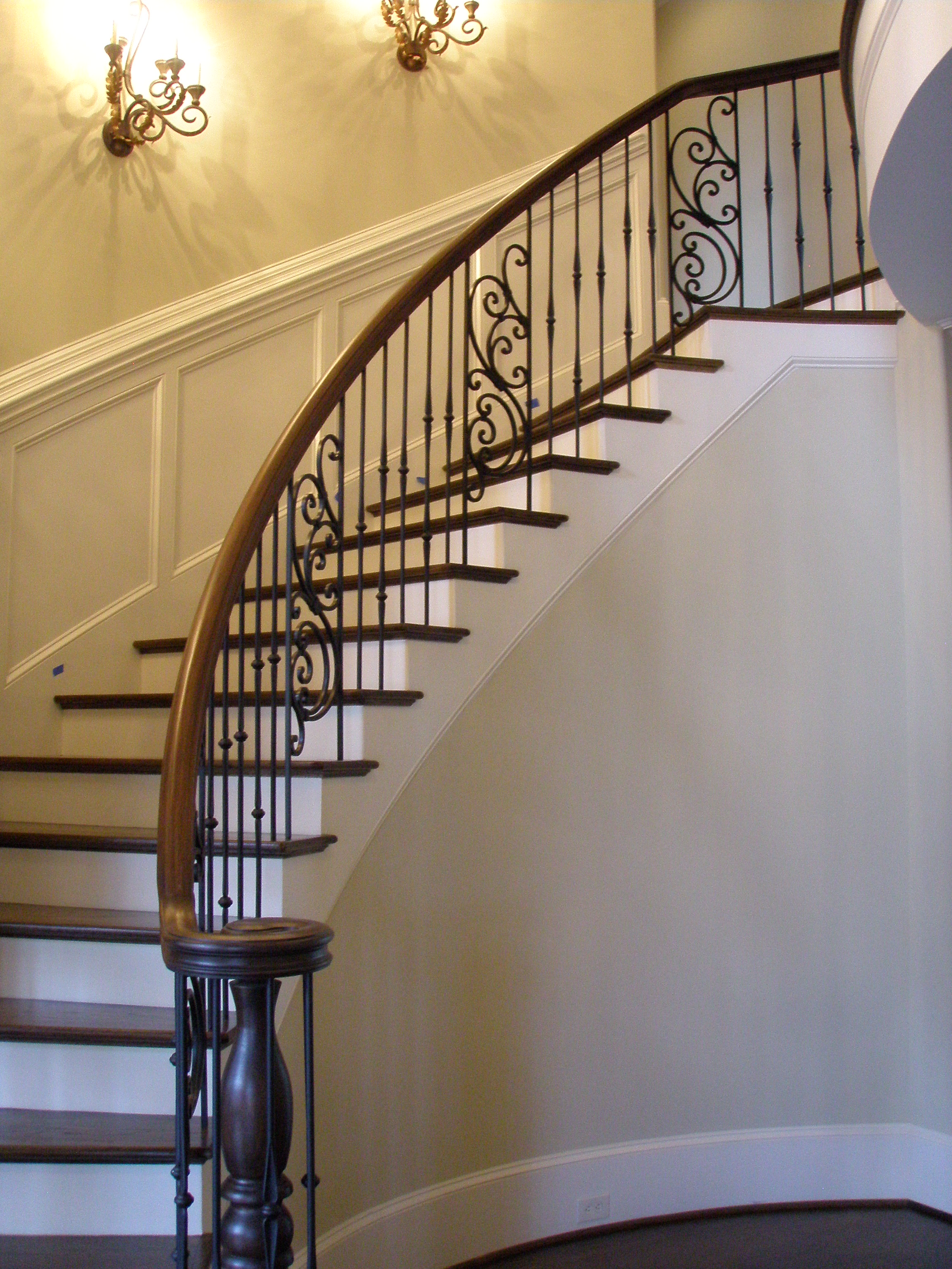 Custom stair installation in upstate sc the finish nail llc for Custom stair