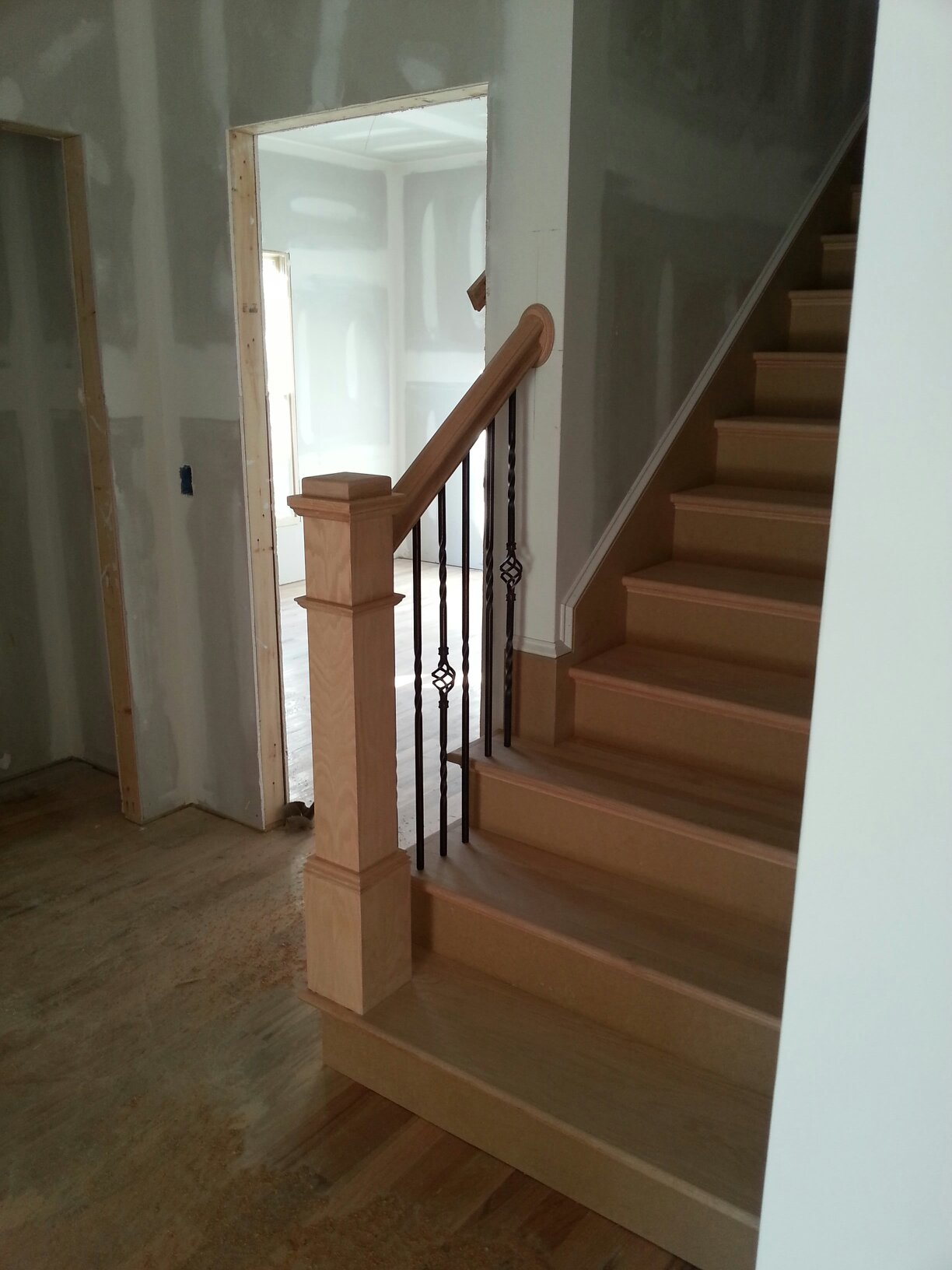 Partial Open Stairs Wood Pro Custom Stair Installations